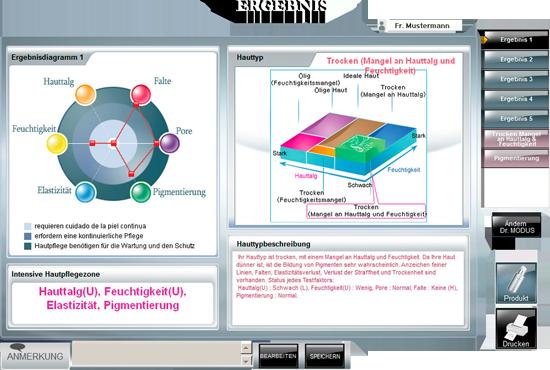 Ergebnis Diagramm Hautanalyse Praxis Doktor Kirsten an der Urania Berlin.png