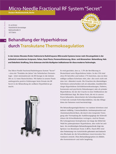 Hyperhidrose Aesthetische Dermatologie