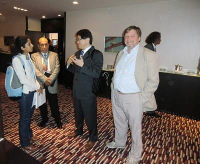 Юри Кирстен с профессором Йошимура Токио