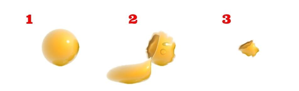 Darstellung der Etappen der Entleerung einer Fettzelle nach einer Fett weg Spritze