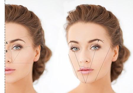 Richtige Position der Augenbrauen